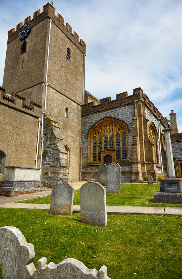 圣迈克尔墓地天使教会 Lyme regis 西多塞特 英国 图库摄影