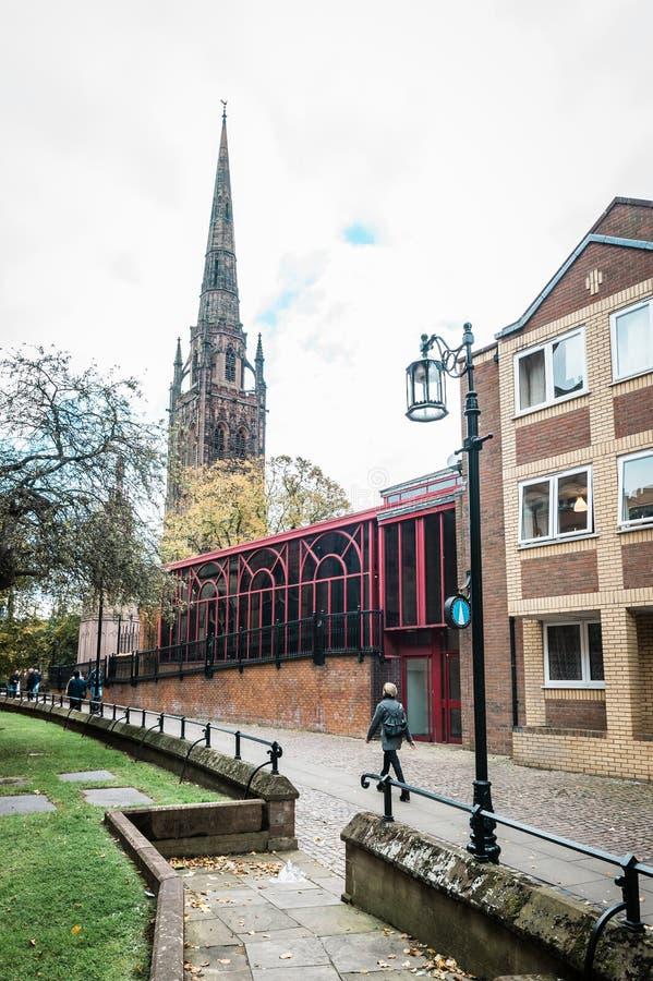 圣迈克尔大教堂教会在考文垂,英国 库存照片