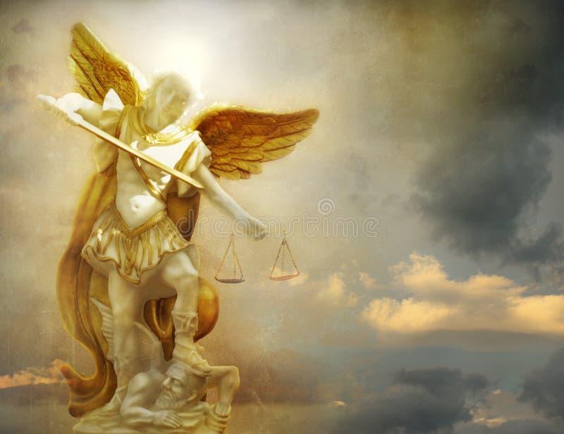 圣迈克尔天使 免版税库存图片