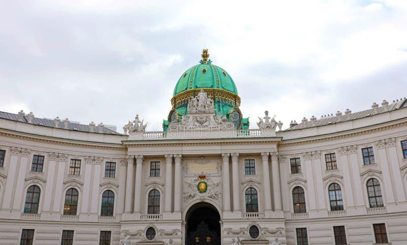 圣迈克尔广场的Michaelerplatz,维也纳,奥地利Hofburg宫殿 库存照片