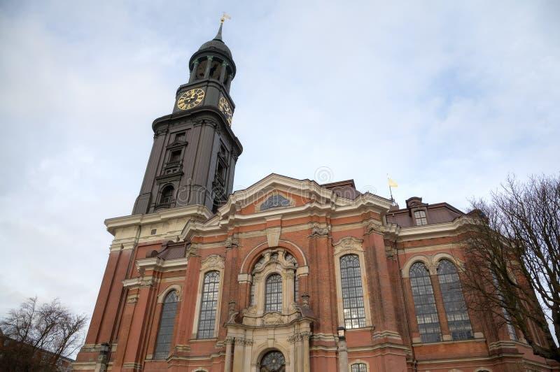 圣迈克尔教会。汉堡,德国 免版税图库摄影