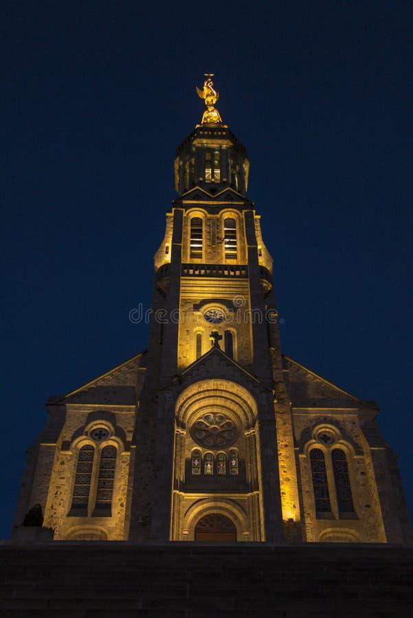 圣迈克尔教会在圣徒米谢尔Mont Mercure,法国机智 图库摄影