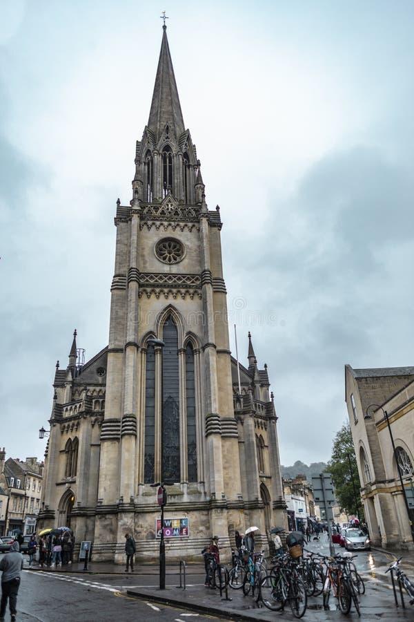 圣迈克尔教会在巴恩,萨默塞特,英国 免版税库存图片