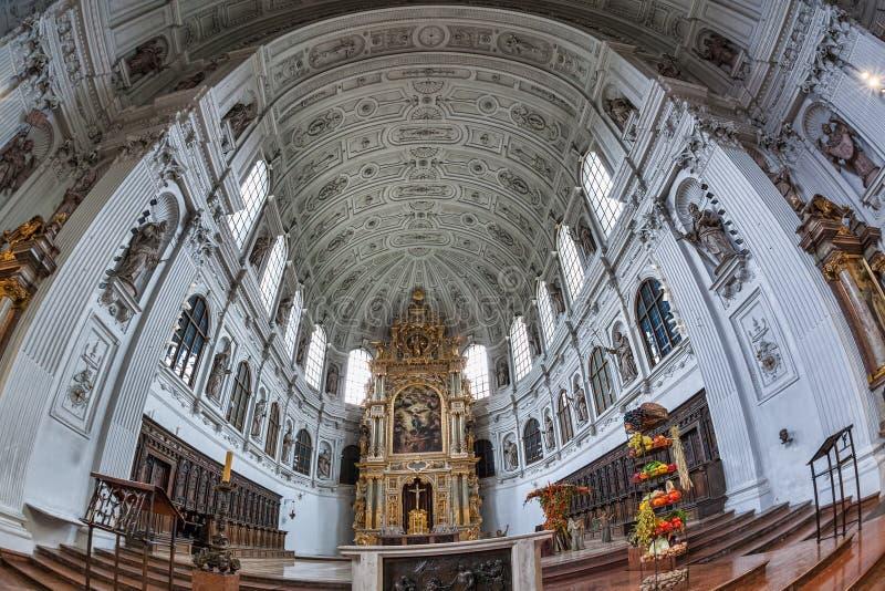 圣迈克尔教会在慕尼黑,拜仁,德国 免版税库存图片