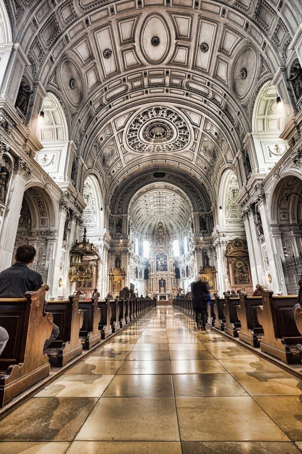 圣迈克尔教会在慕尼黑,拜仁,德国 免版税库存照片