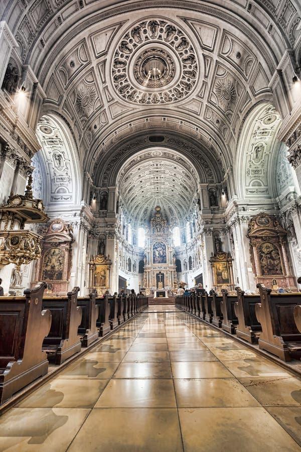 圣迈克尔教会在慕尼黑,拜仁,德国 图库摄影