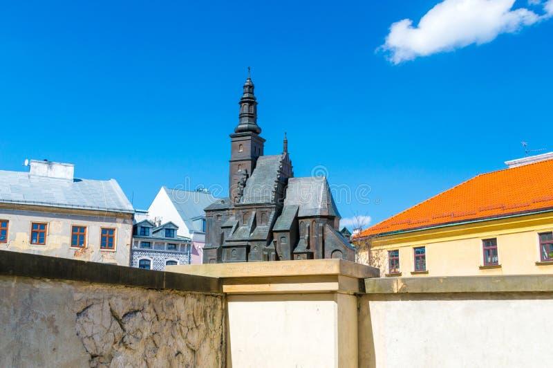 圣迈克尔教会比例模型在鲁布林 库存照片