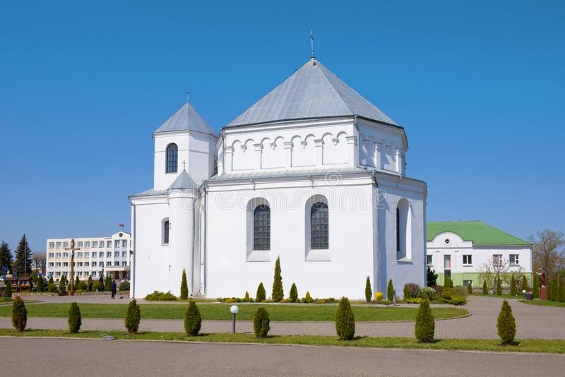 圣迈克尔教会阿尔尚热 斯莫尔贡,白俄罗斯 库存照片