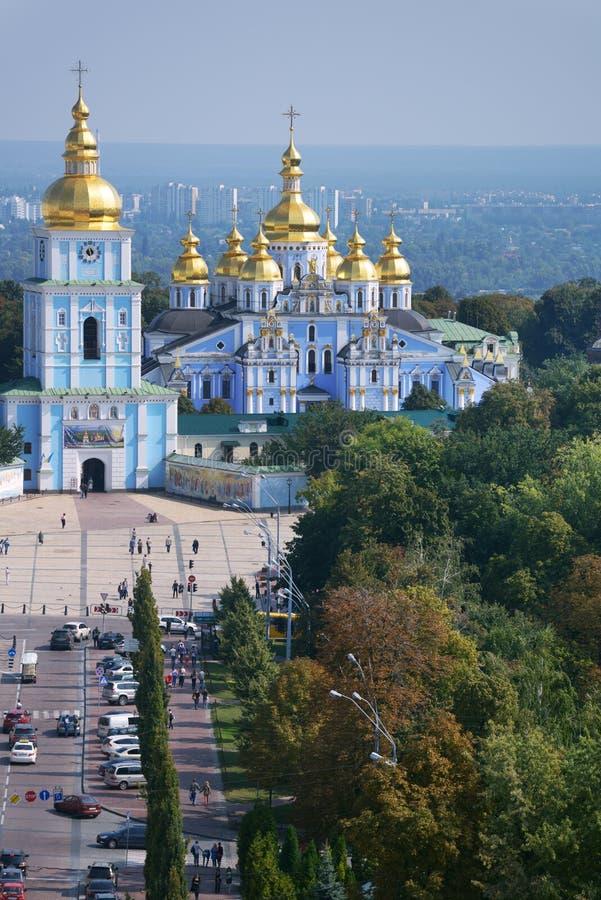 圣迈克尔的修道院在基辅 免版税库存图片