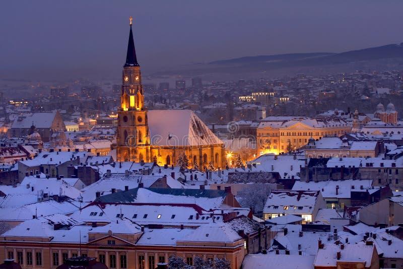 圣迈克尔的大教堂在科鲁Napoca 免版税库存照片