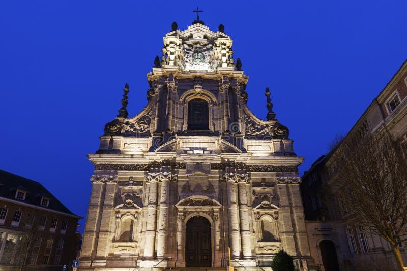 圣迈克尔的教会在鲁汶 免版税库存照片