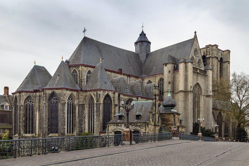圣迈克尔的教会,跟特,比利时 免版税库存图片