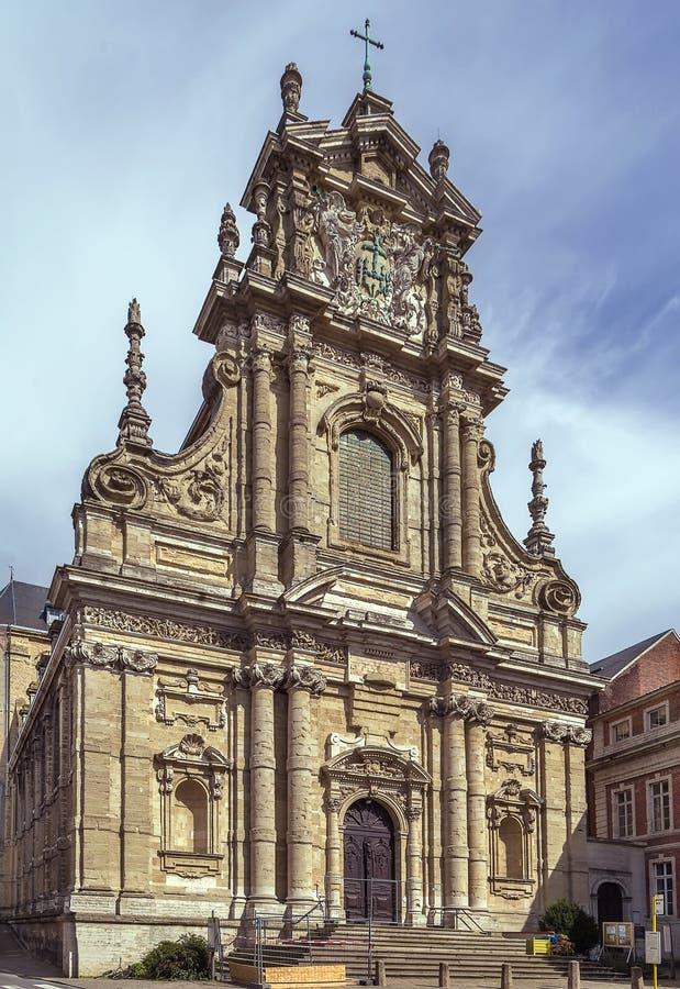圣迈克尔的教会,鲁汶,比利时 库存照片