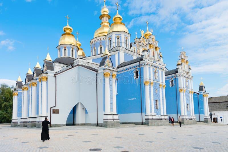 圣迈克尔的金黄半球形的大教堂在基辅,乌克兰 库存图片