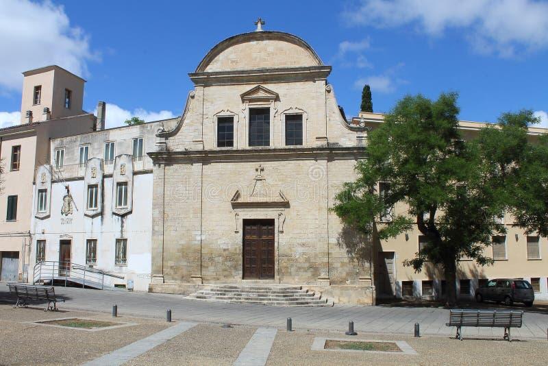圣迈克尔萨萨里撒丁岛意大利教会  库存照片