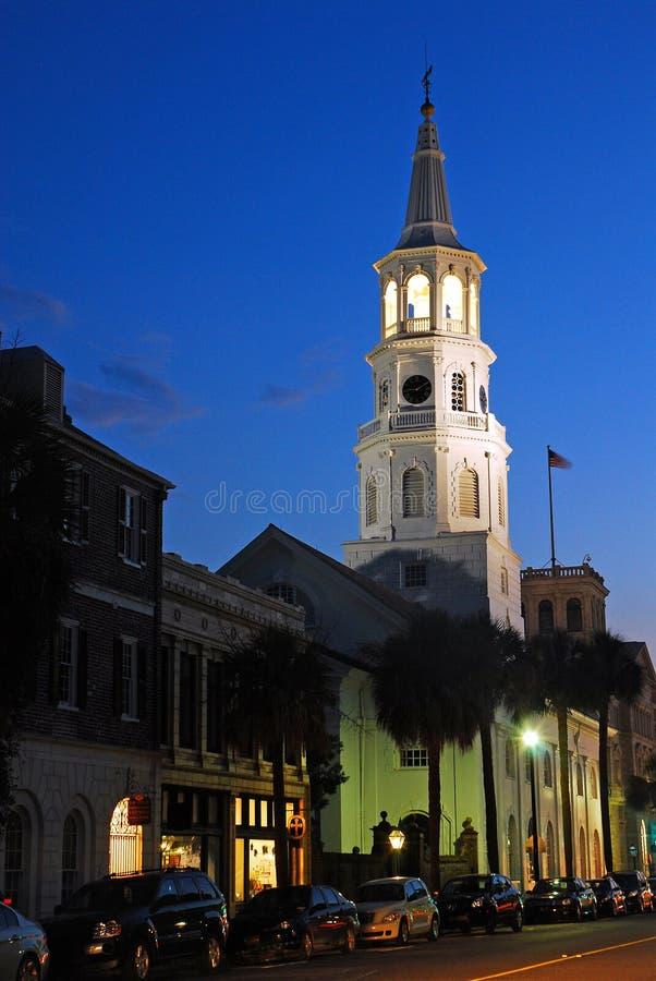 圣迈克尔黄昏的` s教会, 免版税库存图片