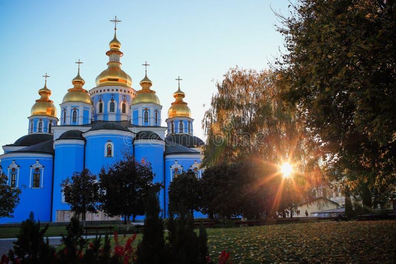 圣迈克尔` s大教堂在基辅 库存图片