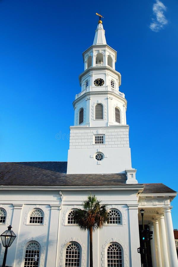 圣迈克尔` s教会在查尔斯顿 图库摄影