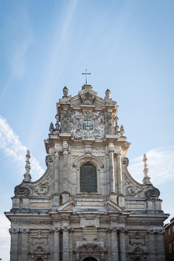 圣迈克尔` s教会在鲁汶 免版税图库摄影