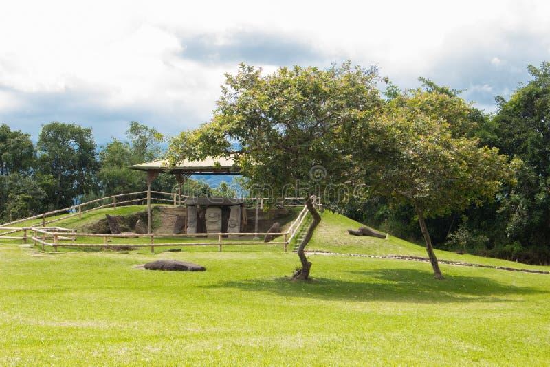 圣阿古斯丁考古学公园, Huilla,哥伦比亚 联合国科教文组织世界遗产名录 库存图片