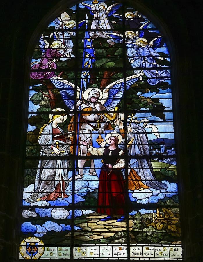 圣雅克教会,贡比涅,瓦兹省,法国 库存照片