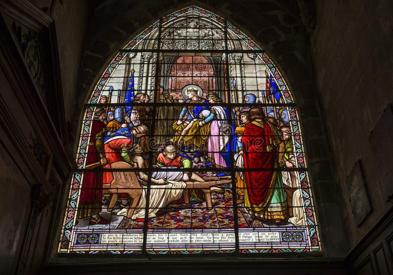 圣雅克教会,贡比涅,瓦兹省,法国 免版税库存照片