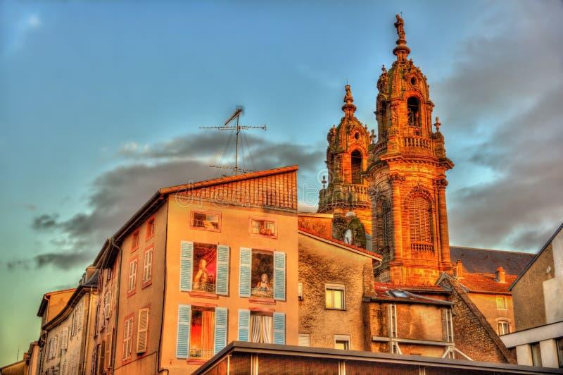 圣雅克chuch看法在Luneville -法国 免版税图库摄影