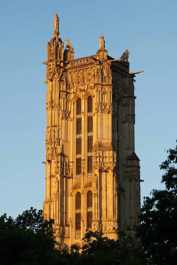 圣雅克TowerÂ在巴黎,法国 库存图片