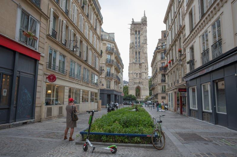 圣雅各伯塔在巴黎,法国 库存图片