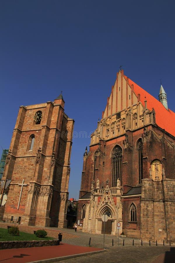 圣雅各布和艾格尼丝nysa大教堂  图库摄影