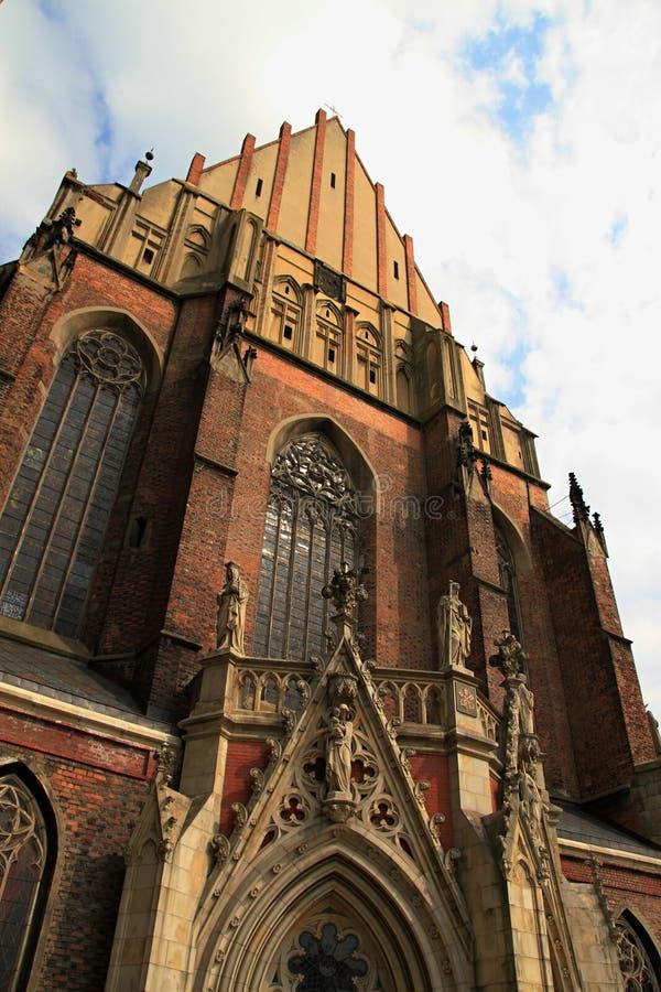 圣雅各布和艾格尼丝nysa大教堂  库存图片