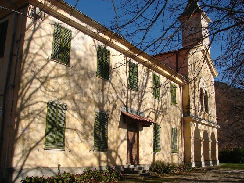 圣雷莫冬天教会 免版税库存照片