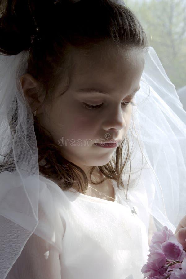 圣餐女孩 库存图片