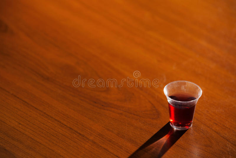 从圣餐的杯 免版税库存图片