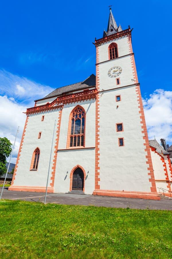 圣马丁大教堂在宾根 免版税图库摄影