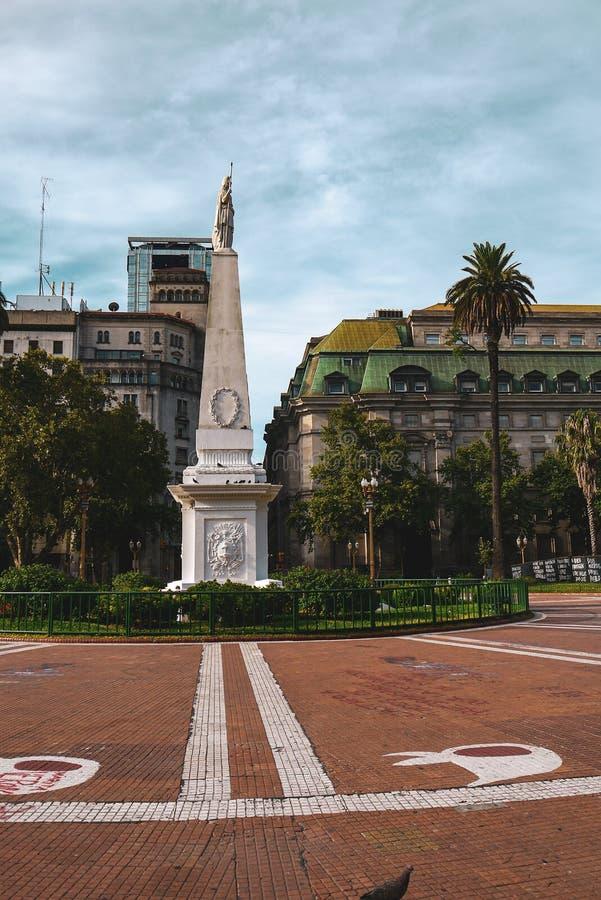 圣马丁广场在布宜诺斯艾利斯 图库摄影