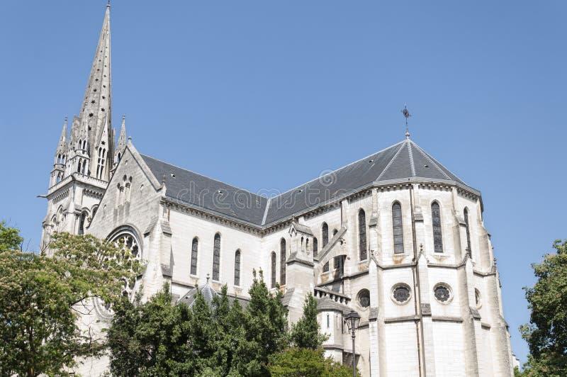 圣马丁教会在波城,法国 免版税库存照片