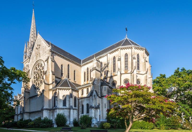 圣马丁教会在波城-法国 免版税库存图片