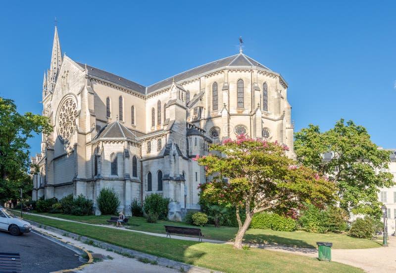 圣马丁教会在波城 免版税库存图片