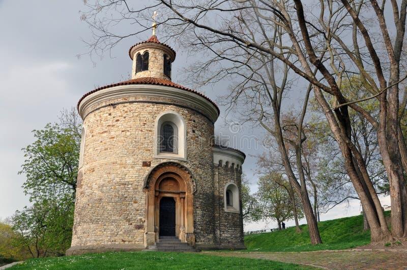 圣马丁的圆形建筑在Vysehrad,布拉格 免版税库存照片