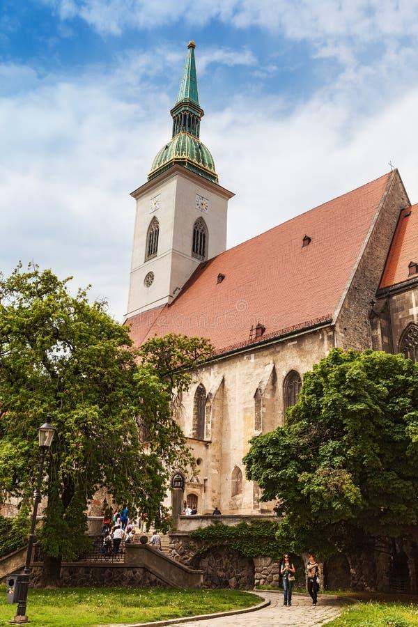圣马丁的大教堂在布拉索夫,斯洛伐克 库存照片