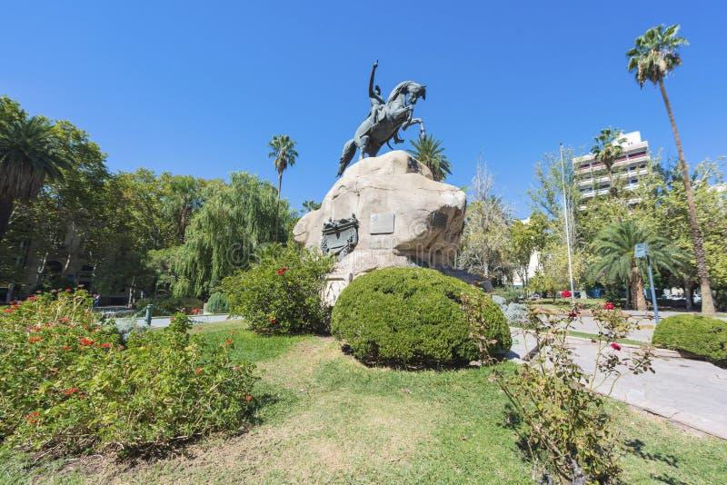 圣马丁省广场在Mendoza,阿根廷 库存照片