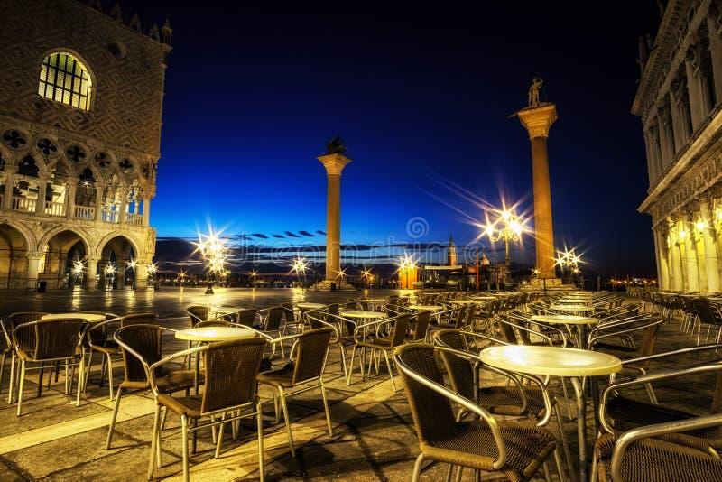 圣马克广场和共和国总督宫殿 免版税库存图片