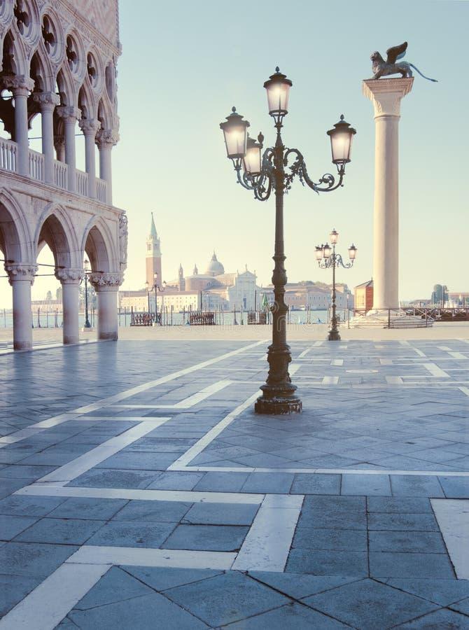 圣马克广场和日出 图库摄影