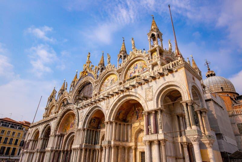 圣马克的大教堂在威尼斯,意大利 免版税库存照片