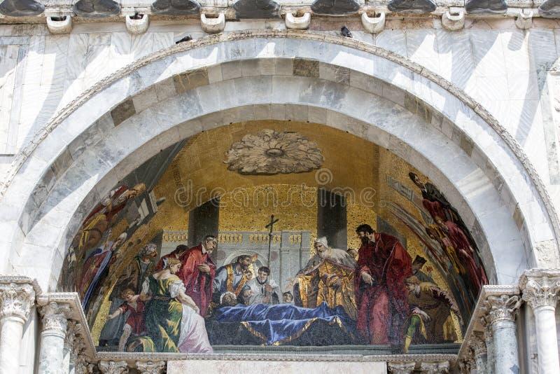 圣马克的大教堂马赛克  免版税库存照片