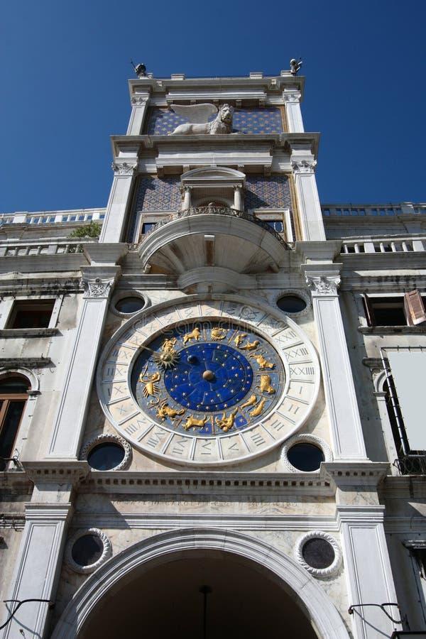 圣马克的时钟 免版税图库摄影