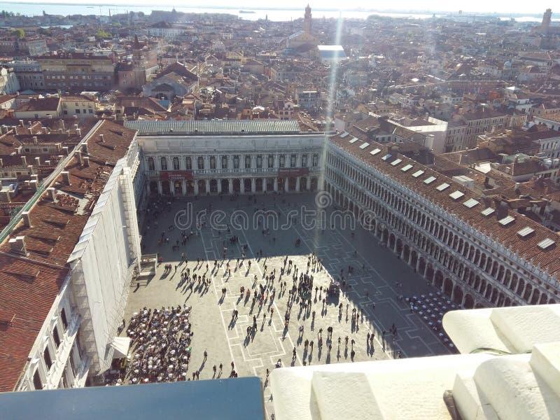 圣马克` s正方形威尼斯广场 免版税库存图片