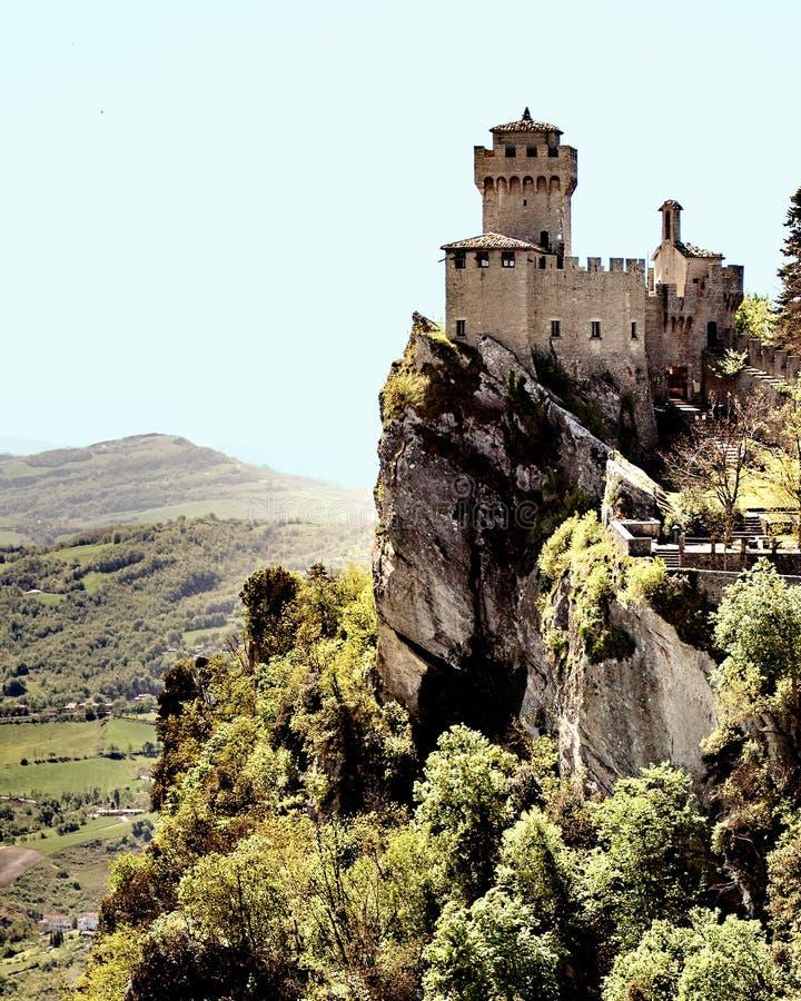 圣马力诺山上面神色 库存图片