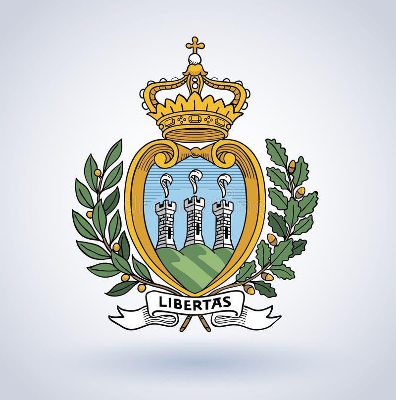 圣马力诺的标志,传染媒介例证 皇族释放例证